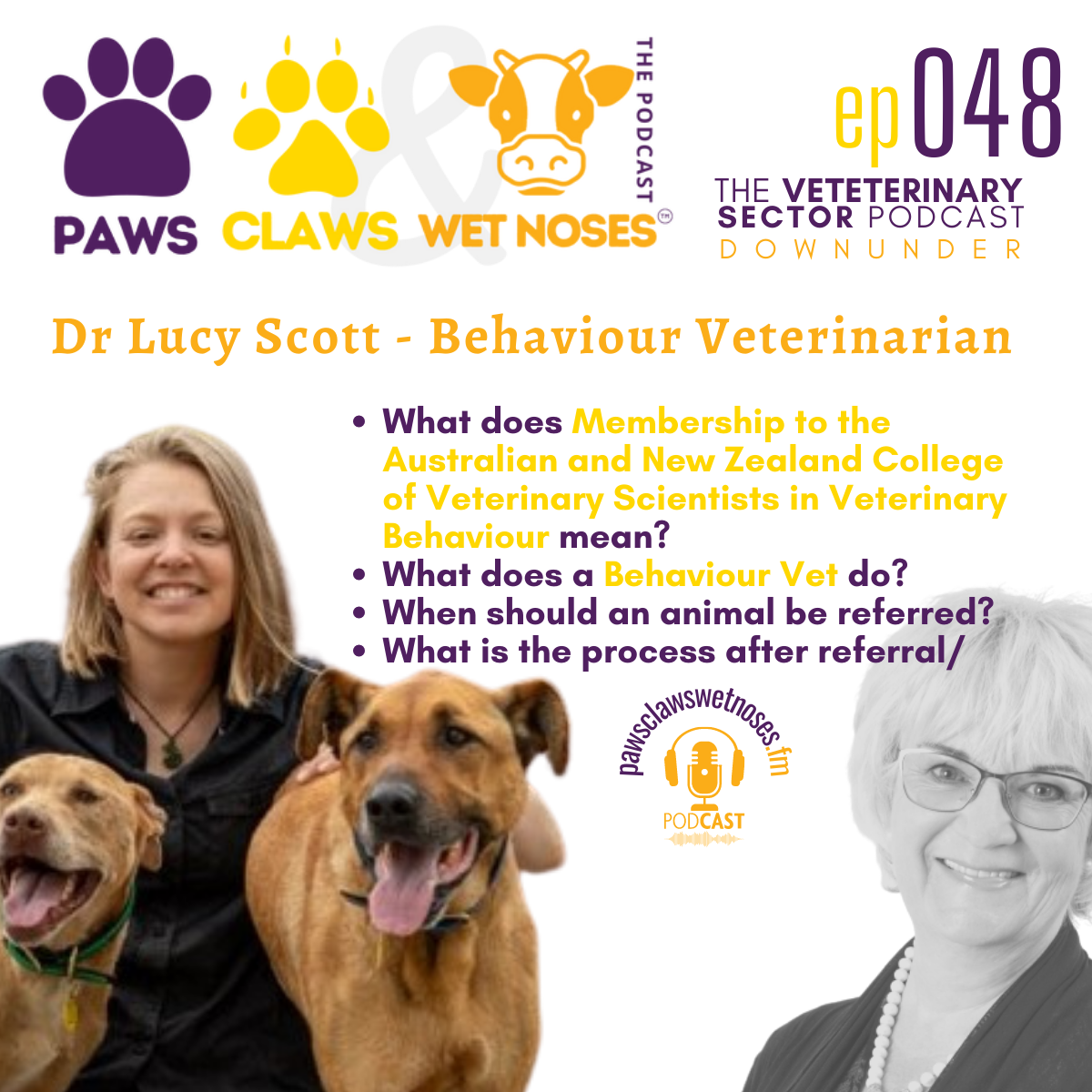 Paws, Claws & Wet Noses   veterinary podcast